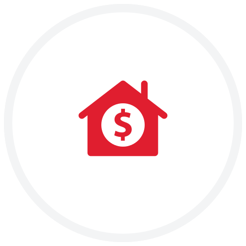House icon with a dollar sign